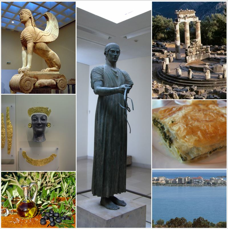 Delphi - Archaeological Site & Museum, Olive oil Tasting & Greek Spinach Pie, Itea
